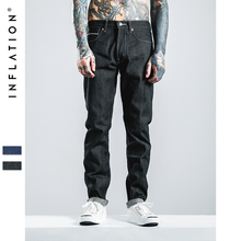 INFLATION High Denim Casual Mens Jeans Pencil Pants Slim Fit Jeans Embroidery Designs Hip Hop Skinny Jeans(China)
