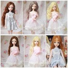 Free shipping cheap blyth Lourie bjd doll cosmetic diy refit 29CM high gift/ Ye Luoli Night Lolita doll with clothes16100807