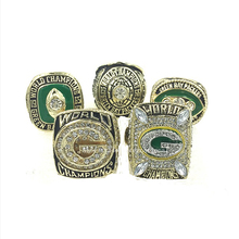 Replica NFL Super Bowl 1965/1966/1967/1996/2010 Green Bay Packers Solid Championship Ring Set Size 11