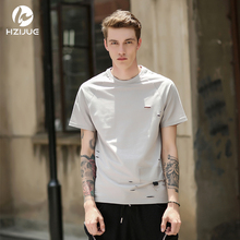 HZIJUE 2017 summer hip hop brand t shirts Original Design hip hop clothes loose street style tops male Personality t-shirt