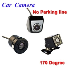 Waterproof Car Parking Assistance View Camera Or Parking Monitor 4 LED HD CCD Wire Car Rear View Camera No Parking Line(China)