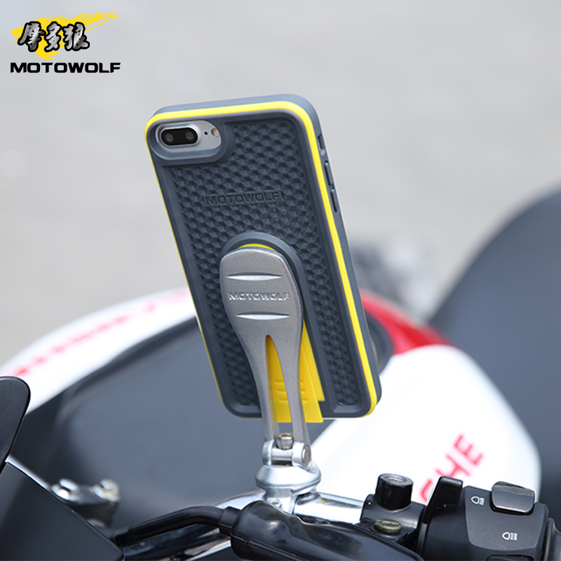 Universal Adjustable Motorcycle Mobile Phone Holder  Bike Head Stem Mount  For Iphone Samsung 4.7 inch - 5.5 inch mobile phone<br>