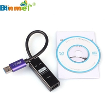 Factory Price Binmer Hot Selling USB 3.0 Gigabit Ethernet RJ45 External Network Card LAN Adapter 10/100/1000Mbps Free Shipping