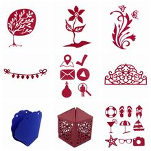 1 PC New Metal Shoes Flag/Flowers/Peacock/Box Cutting Dies Stencil DIY Scrapbooking Album Decoration Paper Card Embossing Craft(China)
