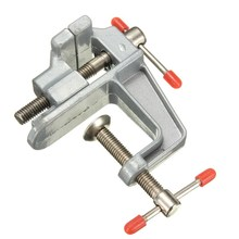 MTGATHER 35mm Aluminum MiniAture Small Jewelers Hobby Clamp On Table Bench Vise Tool Vice Durable