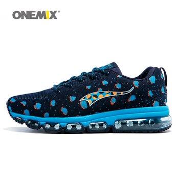 ONEMIX Men Sport Zapatillas Tejer Adultos Zapatos Corrientes Respirables Al Aire Libre Zapatos Masculinos Entrenadores Atléticos zapatos de hombre