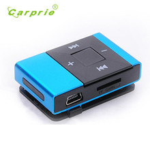Carprie New Mini USB Metal Casing Clip Digital Mp3 Music Player Support 8GB SD TF Card Players 17Jul08 Dropshipping(China)