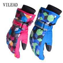 VILEAD XL Ski Gloves 5 Levels TPU Bag Winter Unisex Snowboard Gloves Snowmobile Motorcycle Riding Gloves Cold-proof Snow Gloves