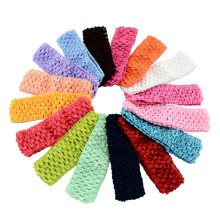18pcs/lot Kids Stretchy Elastic Hair Band Newborn Kids TuTu Crochet Headband  For Kids Hair Accessories 597