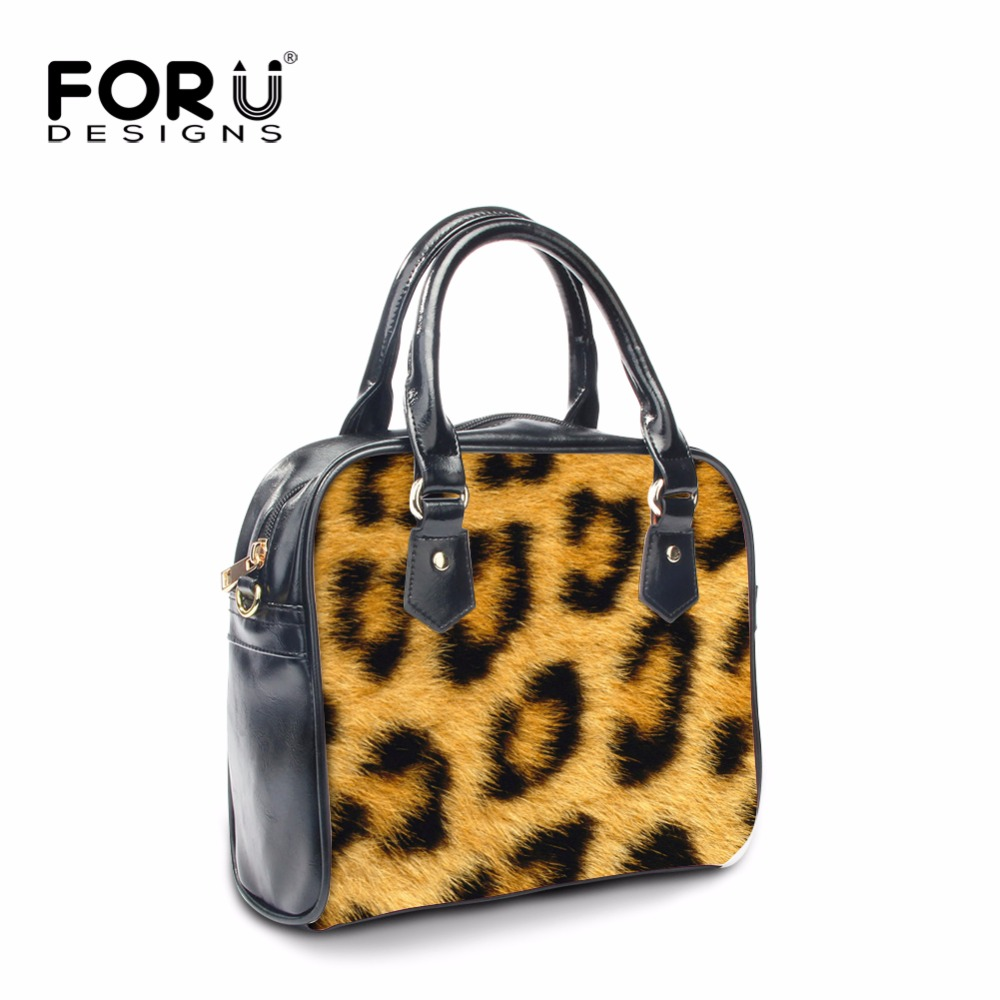 FORUDESIGNS Sexy Leopard Fur Print Shoulder Bags Women PU Leather Small Flap Crossbody Bag Designer Brand Ladies Clutch Handbags<br>