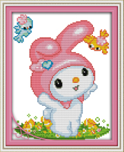 Joy sunday cartoon style I am happy cross stitch embroidery designs patterns for christmas gifts