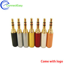 4PCS 3.5 mm Audio Jack Gold-plated 3Pole Male Adapter Earphone Plug For DIY Stereo Headphone