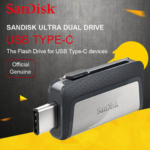 sandisk 128GB SDDDC2 high speed Type-C USB3.1 Dual OTG USB Flash Drive 64GB Pen Drives 16GB 130M/S PenDrives 32GB USB Stick(China)