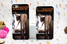 Girl Keep Their Beer On The Bottom Shelf Style Hard White Skin Case Cover for iPhone 5 5s 5g