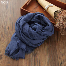 Womens Fall Fashion Cotton Linen Wrinkled Long Wool Scarf Shawl Wrap  200*160cm Scarves Bikini Sarong Scarf Cover Up CJ191