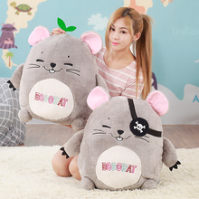 40cm Cute Bobo Rat Plush Toy Staffed Cartoon Animal Mouse Pillow Doll Kawaii HamsteR Kids Toy Creative Lovely Birthday Gift(China)