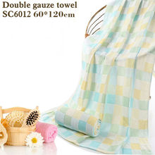 cotton bath towel double gauze squares printed bath towelThin section easy to dry Don't wash cotton terry towel towel baby slob(China)