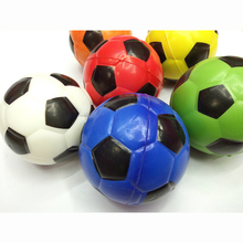 12PCS 10cm soccer Foam Rubber Ball Toy football Hand Wrist Exercise Stress Relief Squeeze Soft Colorful Ball Children Christmas