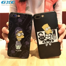 GXE Cool Cartoon Simpson Patterned Case For iphone 7 Mobile Phone Cases Fashion Cartoon Back Cover Capa For iPhone7 4.7 inch