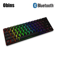 Obins Anne Pro Wired Wireless Bluetooth Mechanical Keyboard with RGB Backlit Light Gaming Keyboard Gamer For PC Loptop Game(China)