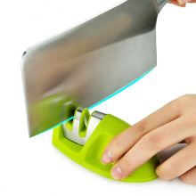 Portable Kitchen Ceramic Knife Sharpener Professional Sharpening  Tools / Two Stages Sharpeners & Non-slip Rubber Base