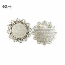 BoYuTe (20 Pieces/Lot) 25MM Inner Size 3 Colors Zinc Alloy Materials Brooch Base Blank Pendant for Jewelry Accessories Wholesale