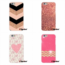 For Samsung Galaxy Note 3 4 5 S4 S5 MINI S6 S7 edge Rose gold glitter sparkles wallpaper Soft Silicone Cell Phone Case Cover