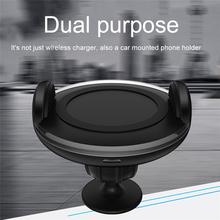 QI Standard Phone Car Magnetic Wireless Charger 360 Degree Rotation battery charger For Iphone 8 Iphone X Samsung S8 S8 Plus S7(China)