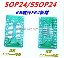 SOP24 turn DIP24 SSOP/TSSOP/SOIC/MSOP24 SMD DIP switch adapter plate, IC adapter Socket Adapter plate PCB