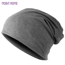 Spring Men Women Knitted Winter Cap Chapeu Casual Beanies for Men Solid Hip-hop Slouch Skullies Bonnet Unisex Cap Hat Gorro 2017(China)
