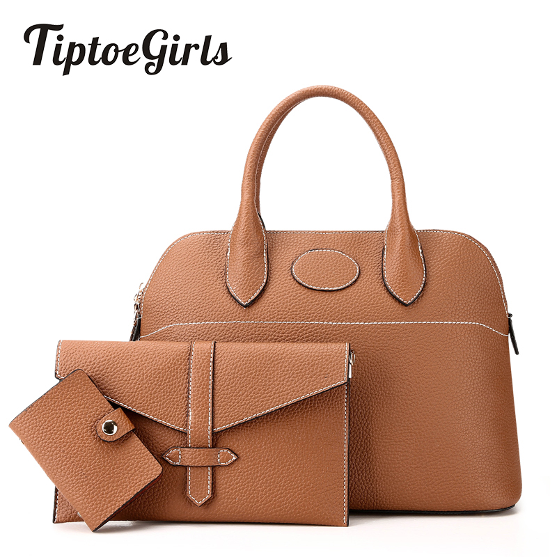 Fashion Portable Composite Bags Three Pcs Bags per Set Classic Simple Shoulder Bags High End Quality Women Hand Bags<br>