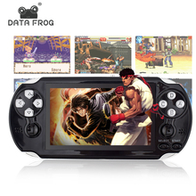 Data Frog 4.3 Inch HD Game Console 32 Bit Portable Handheld Game Players Multimedia Consoles MP5 For GBA/SMD/CP1/NEOGEO Format(China)
