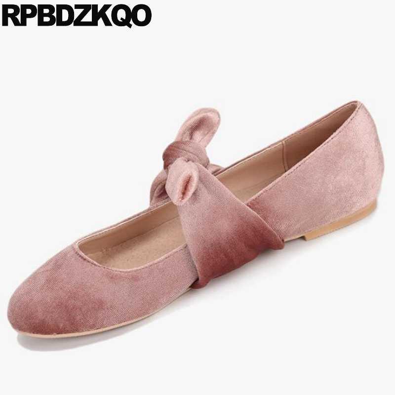 Ballerina Round Toe Velvet 2018 Soft Ballet Flats Women Pink Mary Jane Cute  Beautiful Kawaii Shoes bfd80206b8b7