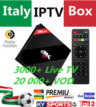 H96Pro+Italy IPTV 32G ROM Android 6.0 Smart TV Box 3000+Live UK Germany Albanian EX-YU Adult Hotclub & 20K+ VOD Set top Box