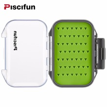 Piscifun Waterproof Silt Foam High Quality Plastic Portable Fly Box Fly Fishing Bait Tackle Box(China)