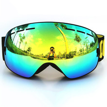 Safety Goggles Professional ski goggles Fashion Snowboarding Glasses snow/UV- Protection double anti-fog lens Snowboard Goggle