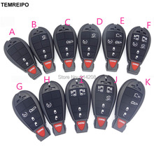 TEMREIPO 20pcs/lot car key case shell for chrysler 3 button remote key case chrysler 300c key for dodge for jeep