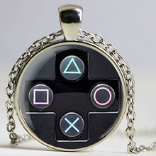 controller necklace geeky boyfriend perfect gift idea jewelry video game controller pattern pendant HZ1