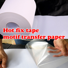5M length/Lot 24cm 32cm wide Hot Fix Tape & Paper Adhesive Iron On Heat Transfer Film HotFix Rhinestone DIY Tool Y2851