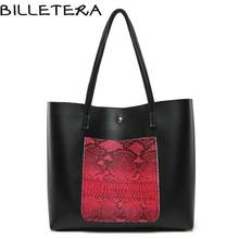 BILLETERA Fashion Women Shoulder Bag PU Leather Tote Bag(China)