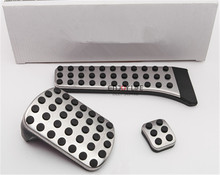 3pcs/set Gas Fuel Brake Footrest Foot Pedal Plate AT For Mercedes Benz W202 W203 W204 W205 C180 C220 C250 C300 C400 C Class