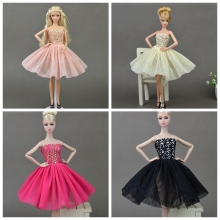 Buy Doll Accessories Sexy Fashion Dress Barbie Doll Costume Shoulder Dresses Lace Gauze Dress Doll Clothes Gift Kids Toy for $3.29 in AliExpress store
