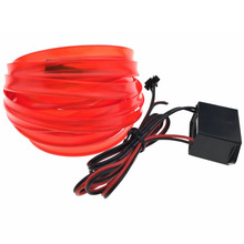 5M 15FT 8mm Sewing Edge Neon Light Dance Party Car Decor Light Flexible EL Wire Rope Tube LED Strip Lamp With Car DC12V Drive