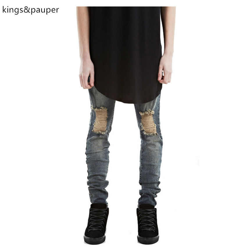 High quality Hip hop men biker jeans distressed ripped skinny jeans fashion mens harem jeans pants patches joggersОдежда и ак�е��уары<br><br><br>Aliexpress
