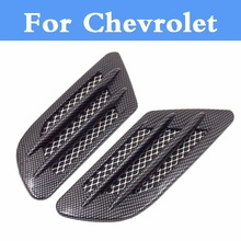 Car Shark Gills Shape Intake Grille Wind Net Sticker For Chevrolet Corvette Cruze Epica Equinox Evanda HHR Impala Kalos Lacetti(China)