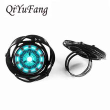 New 2017 US Movie Avengers 1pair/lot Iron Man Tony Stark Silver Stud flower big ring Womens mens flower big ring Dr Who Jewelry(China)