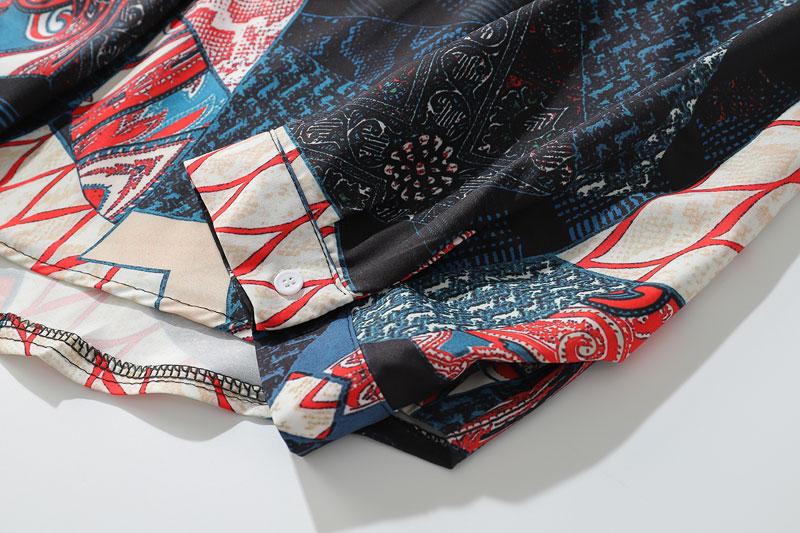 Ukiyo E Geometry Patchwork Shirts 5