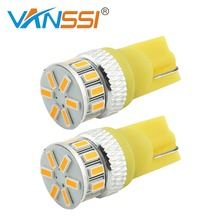 2x Super Bright 3014 T10 W5W 194 168 Led Bulbs Used For License Plate Interior Map Dome Side Marker Light,White/Yellow