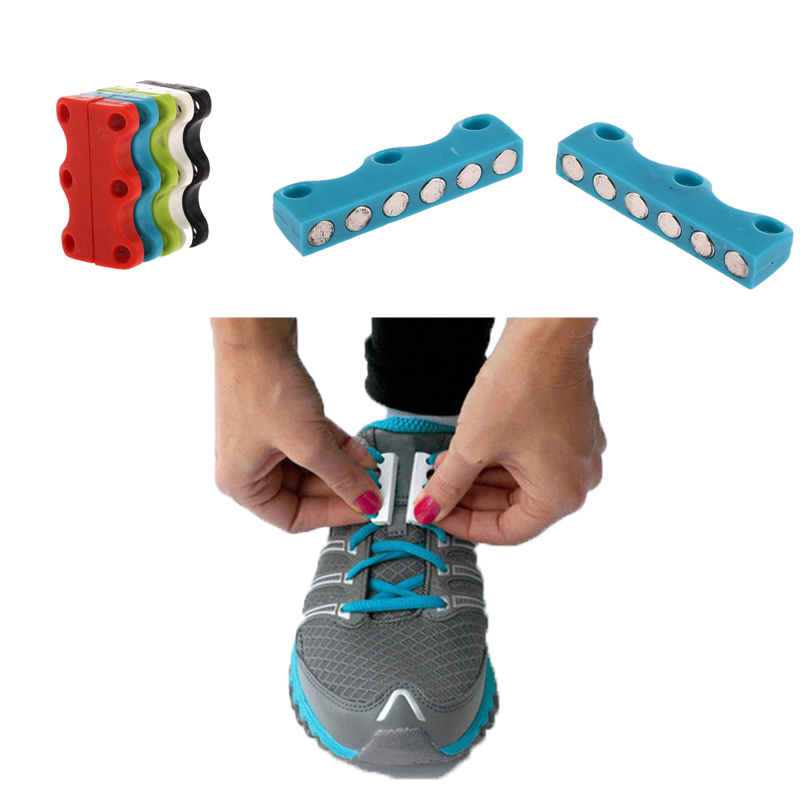 3 Pair Shoe Laces Magnetic Metal No Tie Shoelaces Blue Lazy Lacet Elastic Chaussure Shoestring Sapato Feminino<br><br>Aliexpress