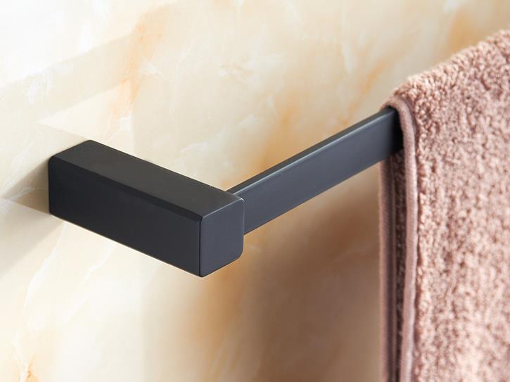 Black Towel Bar Stainless Steel Single  towel bar (length:55cm)<br><br>Aliexpress